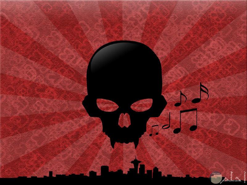 جمجمة تهوى الموسيقى