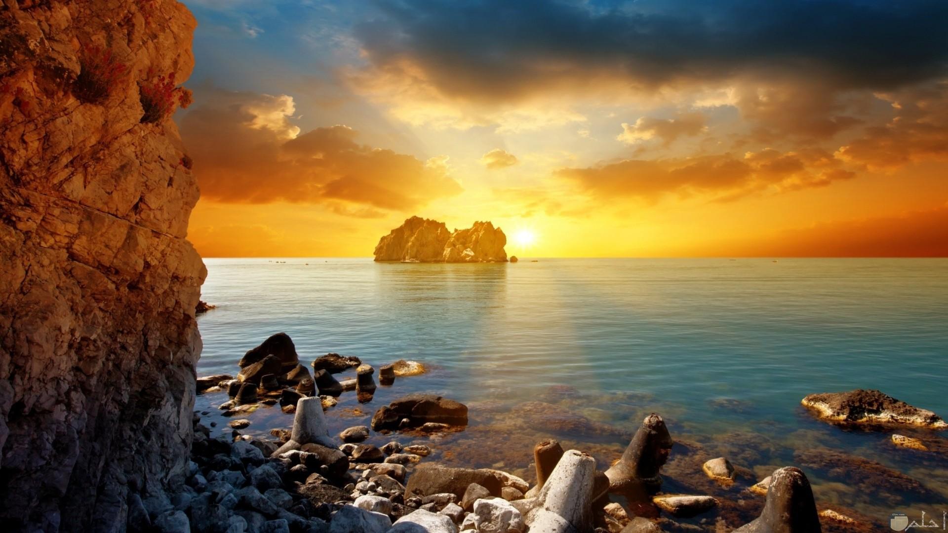مشهد خلاب للبحر