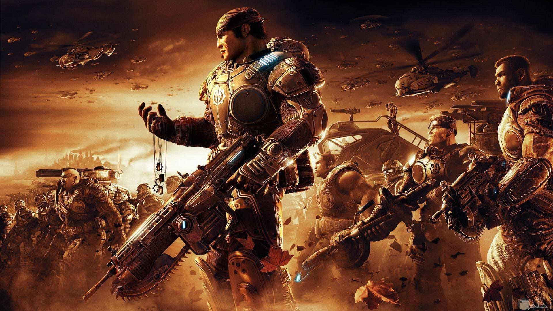 صور اكشن من ألعاب القتال بالأسلحة الكبيرة.