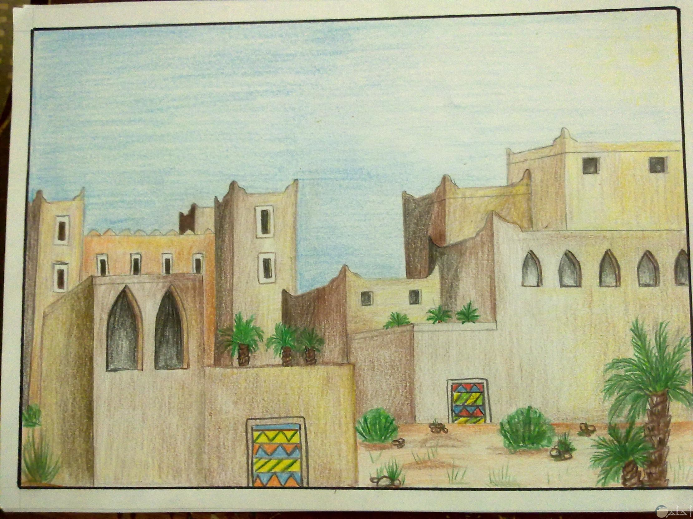 بيوت لها طابع عربي قديم و جميل.