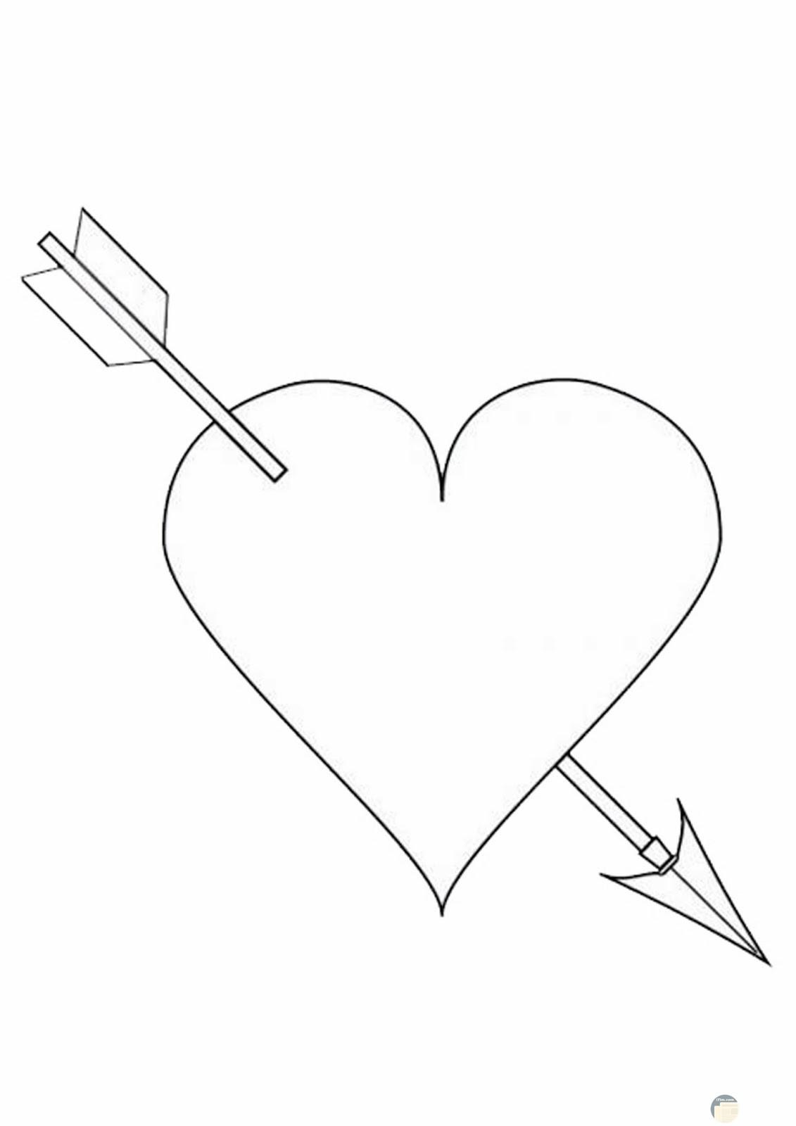 قلب معبر عن الحب