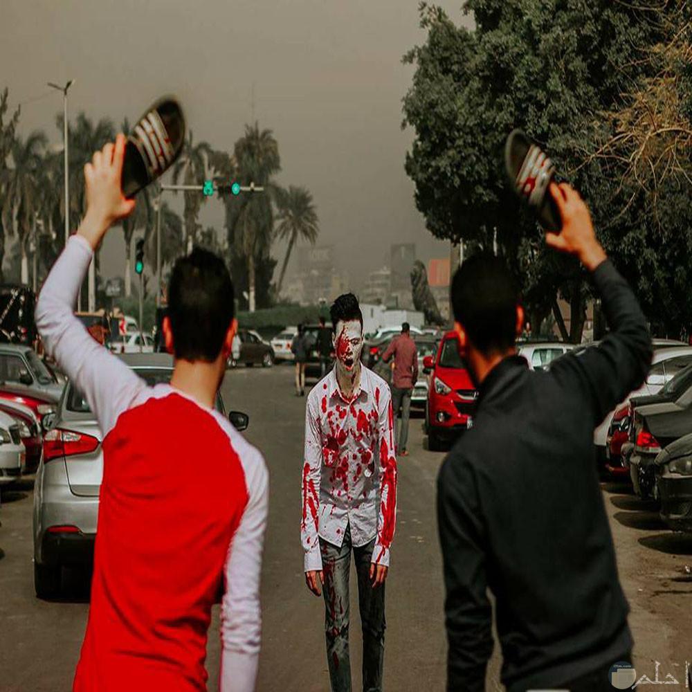 زومبي في شوارع القاهرة