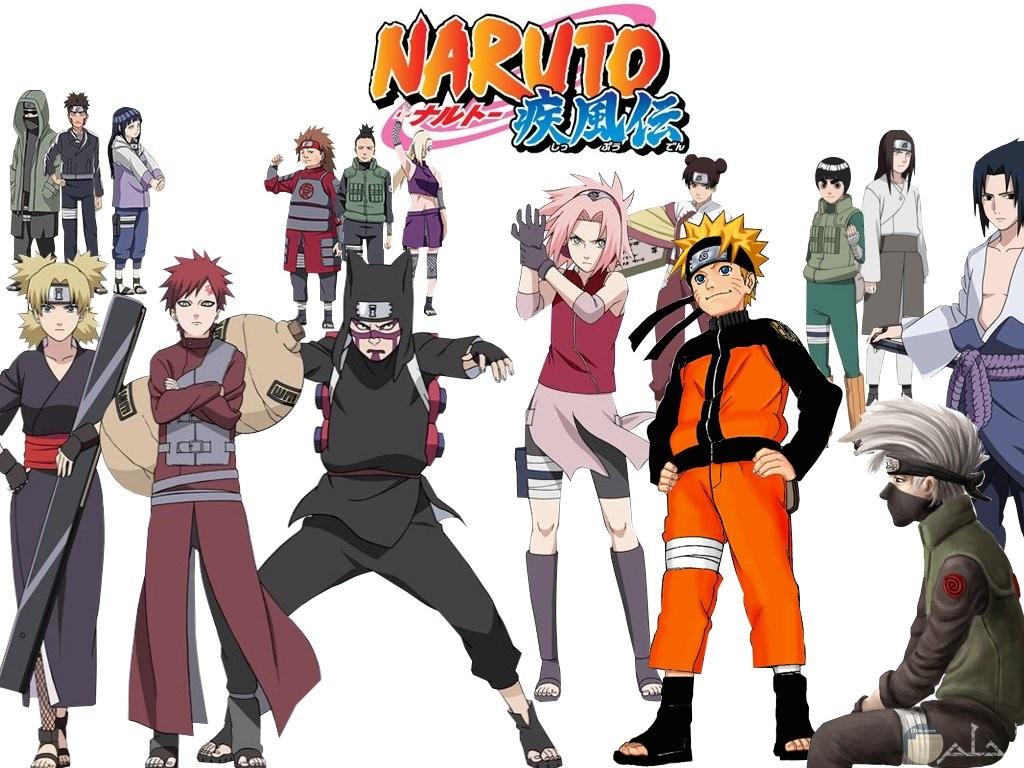 جميع شخصيات انمي ناروتو