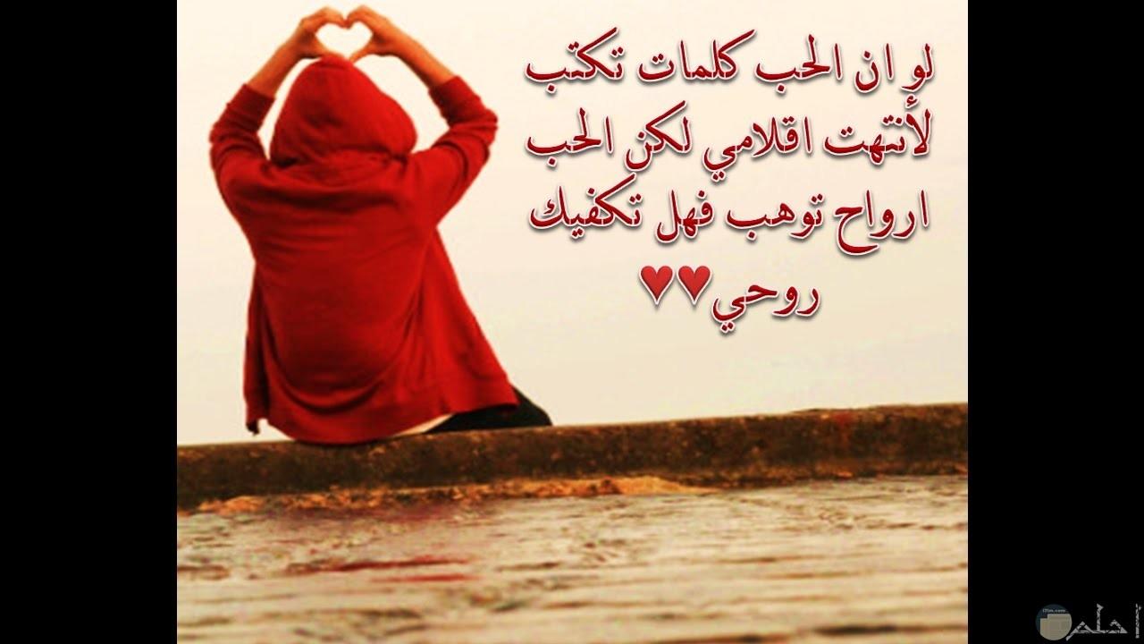 لو أن الحب كلمات تكتب لأنتهت أقلامي لكن الحب أرواح توهب فهل تكفيني روحي.