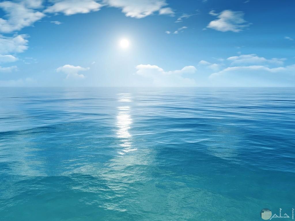 جمال البحر مع السماء
