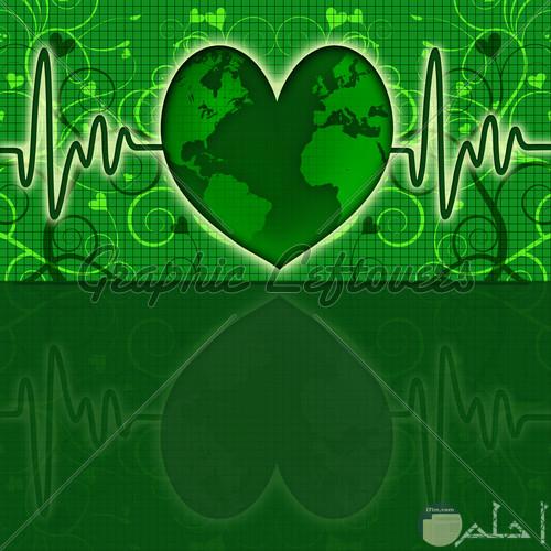 قلب اخضر خلفية