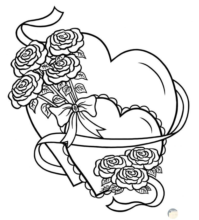 قلبين رائعان مع باقة زهور رائعة