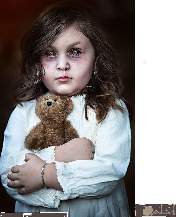 مكياج بسيط مرعب للأطفال لحفلات الهالوين و الحفلات التنكرية.