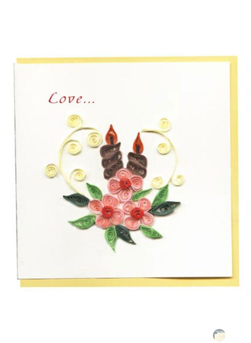 رسالة حب جميلة بالورود
