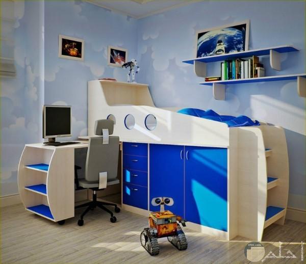 مكتب اطفال وسرير اطفال