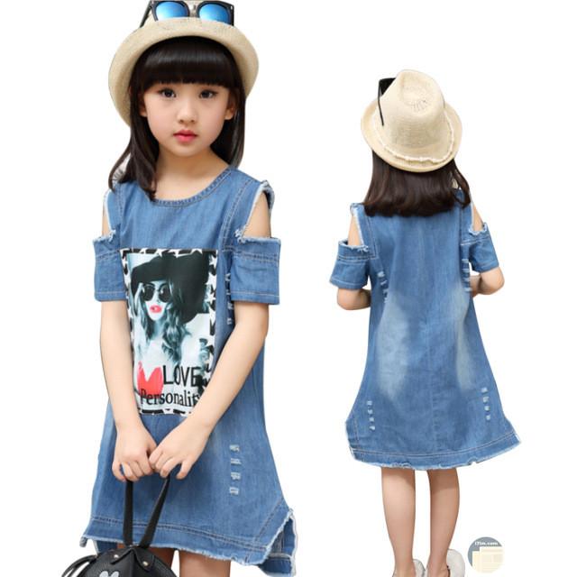 فستان من الجينز بناتي