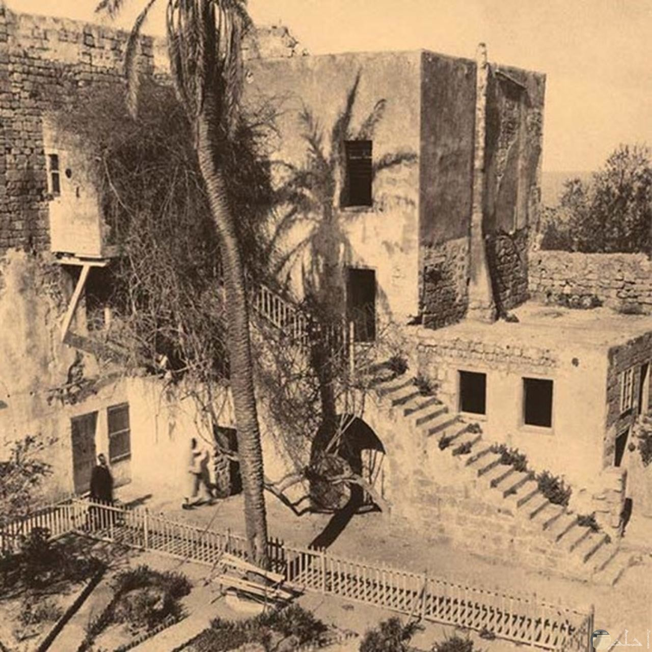 صورة ابيض واسود للبيوت قديما