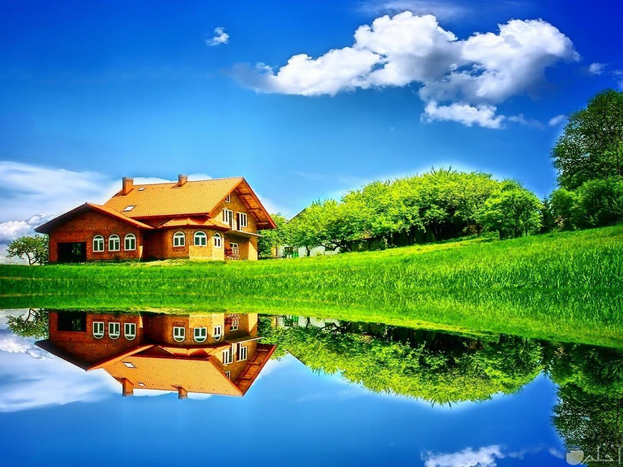 منزل ريفي وسط الحقول خلاب