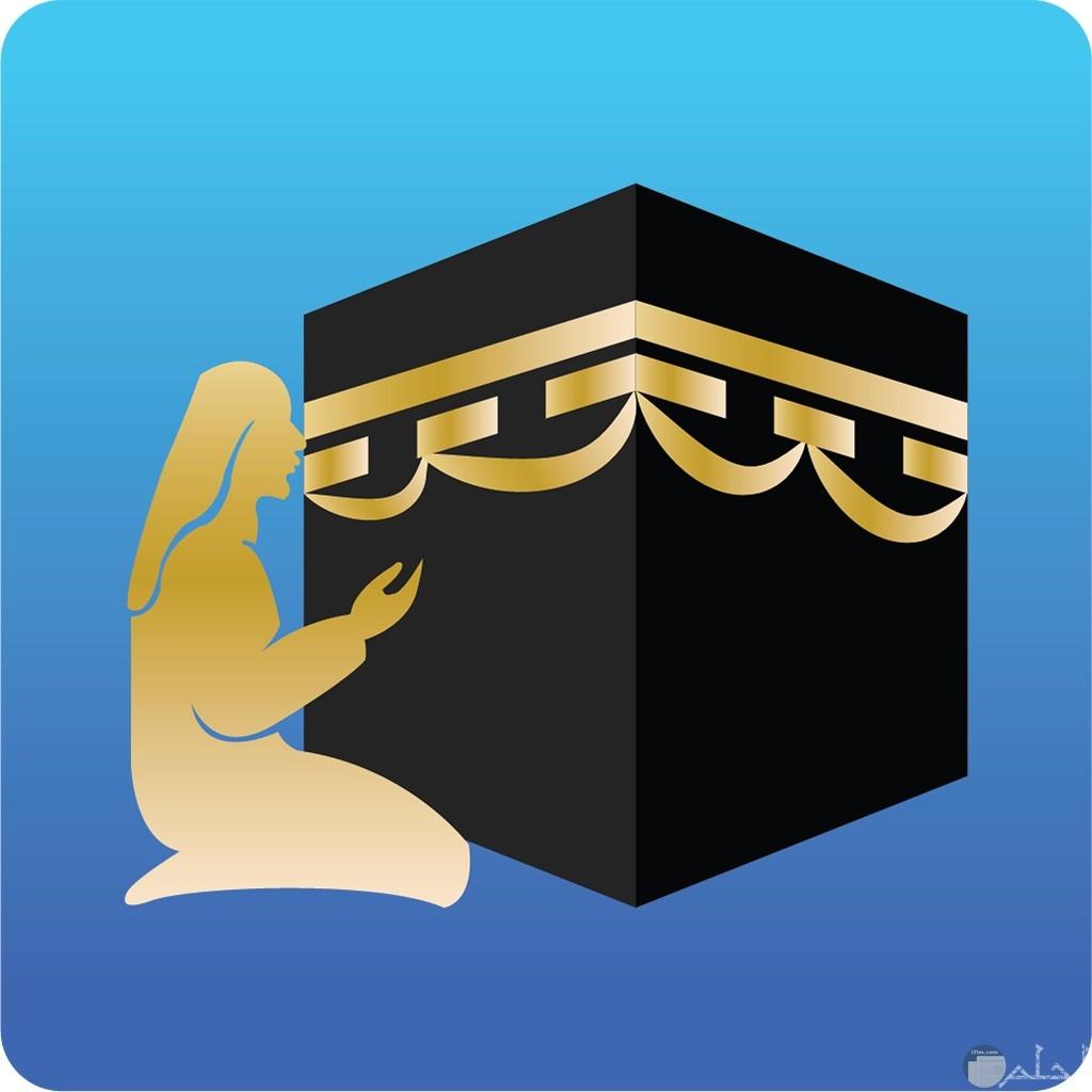 رمز إسلامي لكعبة و الدعاء.