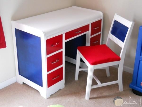 مكتب اطفال احمر ازرق ابيض