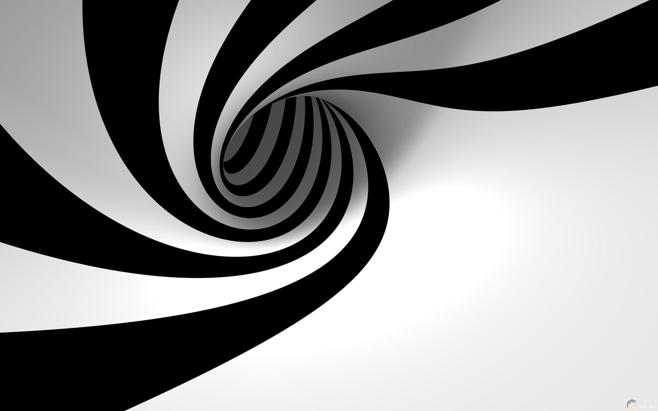 خلفية ثلاثية الابعاد على شكل دوامة 3D.