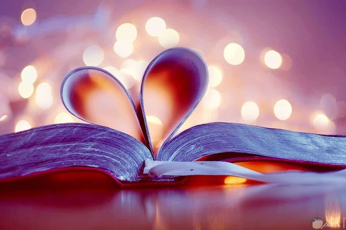 قلب من أوراق كتاب.