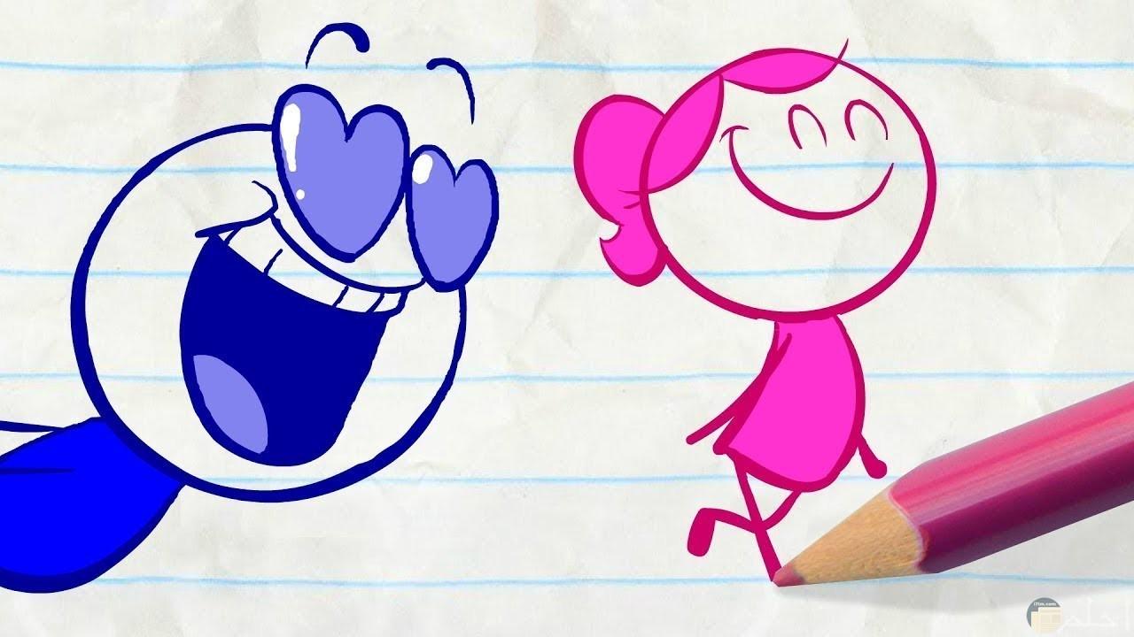 الحب جميل و أحيانا يجعل مظهرك مضحك.