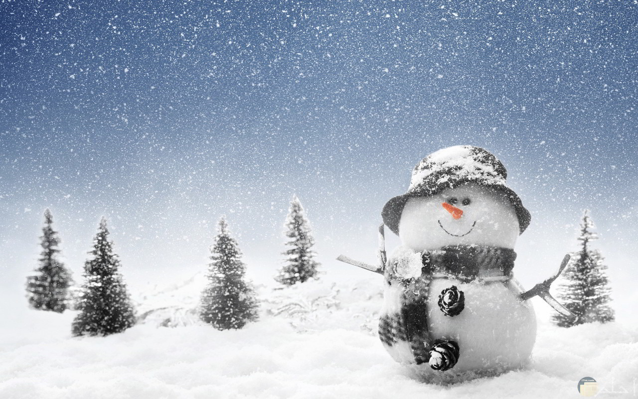 خلفية كيوت لرجل الثلج