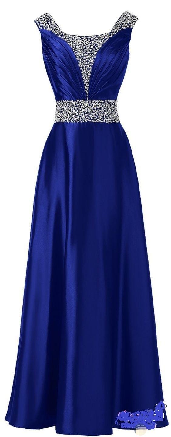فستان أرزق طويل و بسيط.