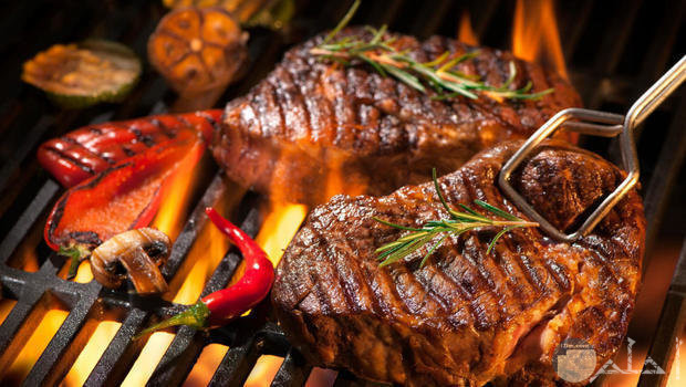 لحم مشوي رائع