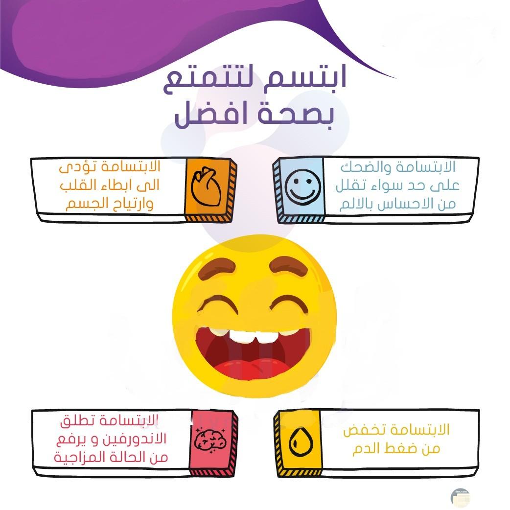 فوائد الإبتسامة على الصحة.