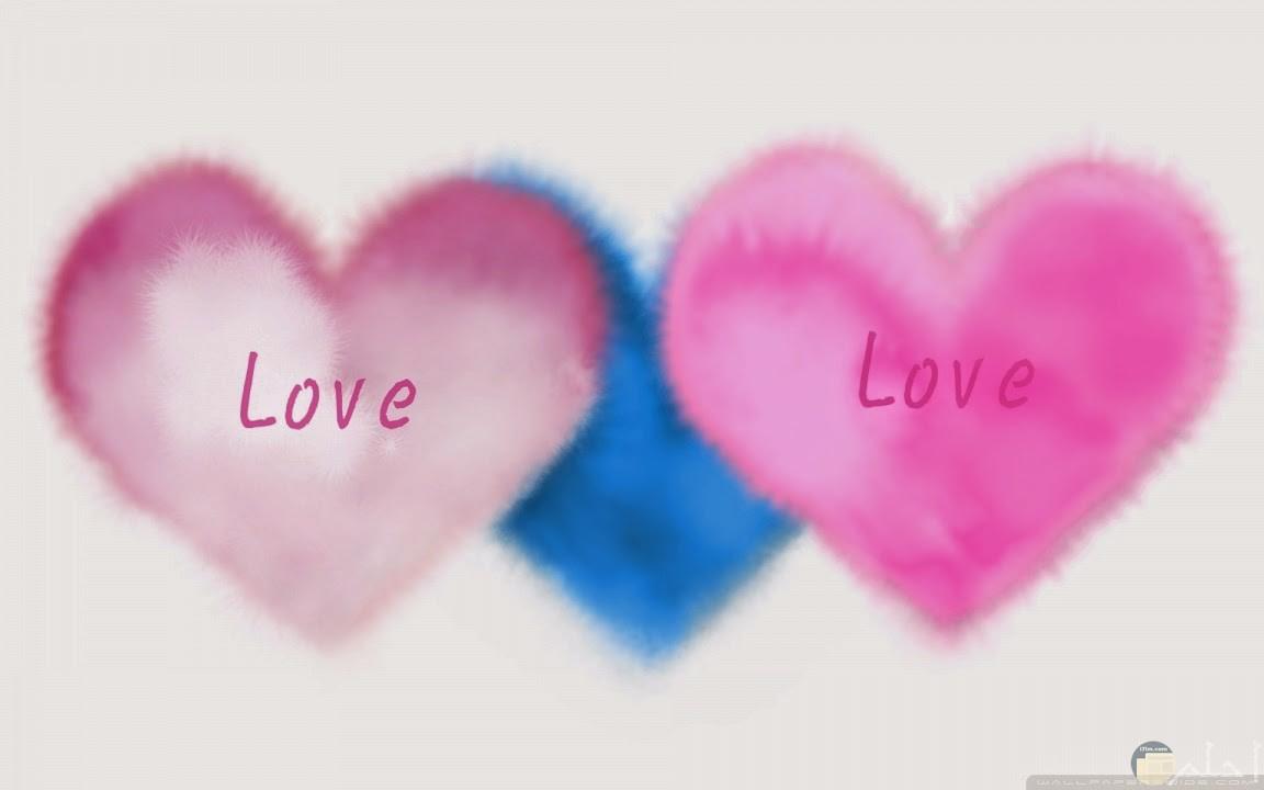 قلوب جميلة بألوان رائعة.