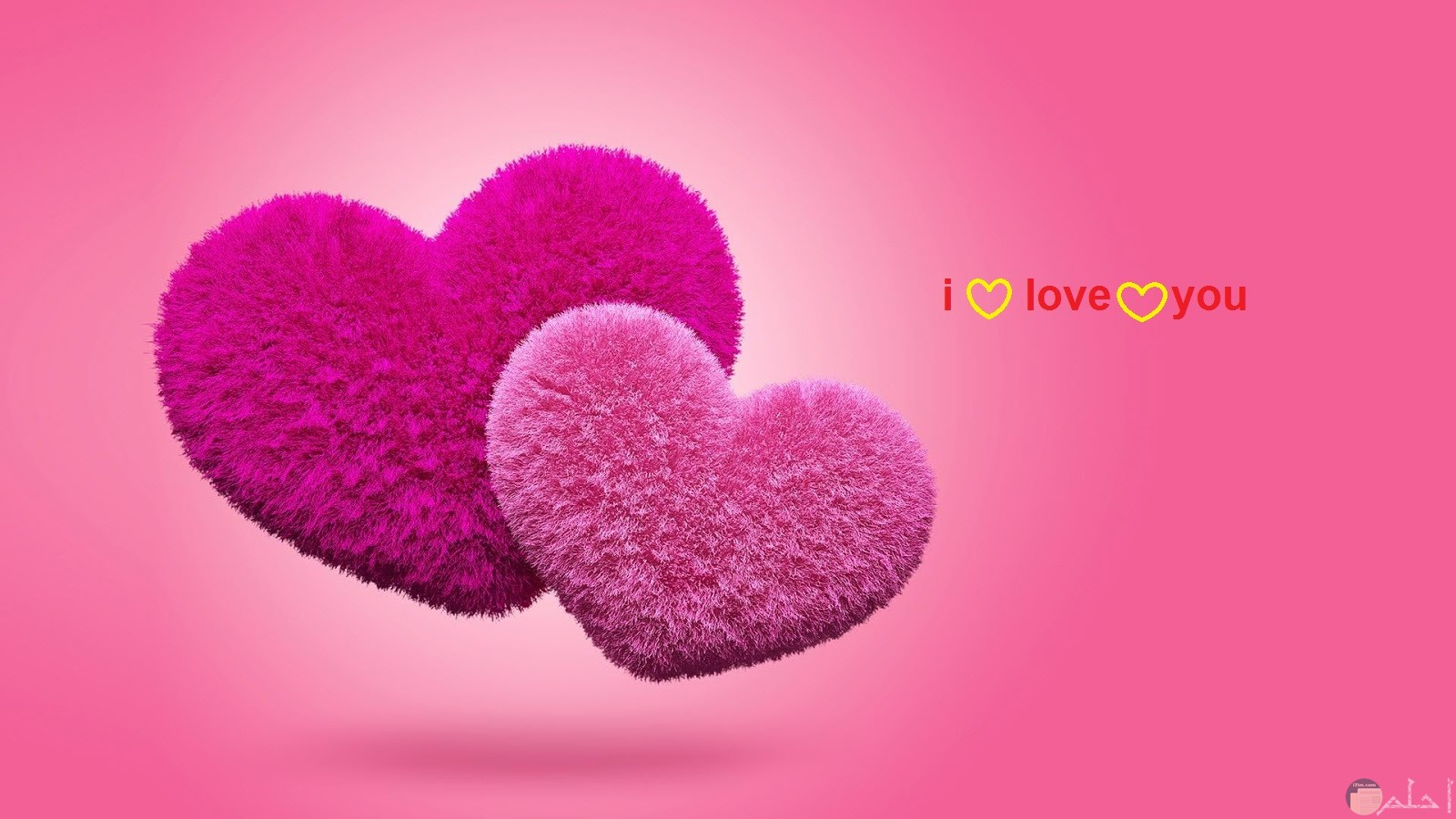 قلوب وردي و موف بخلفية بينك جميلة و مكتوب فيها ....