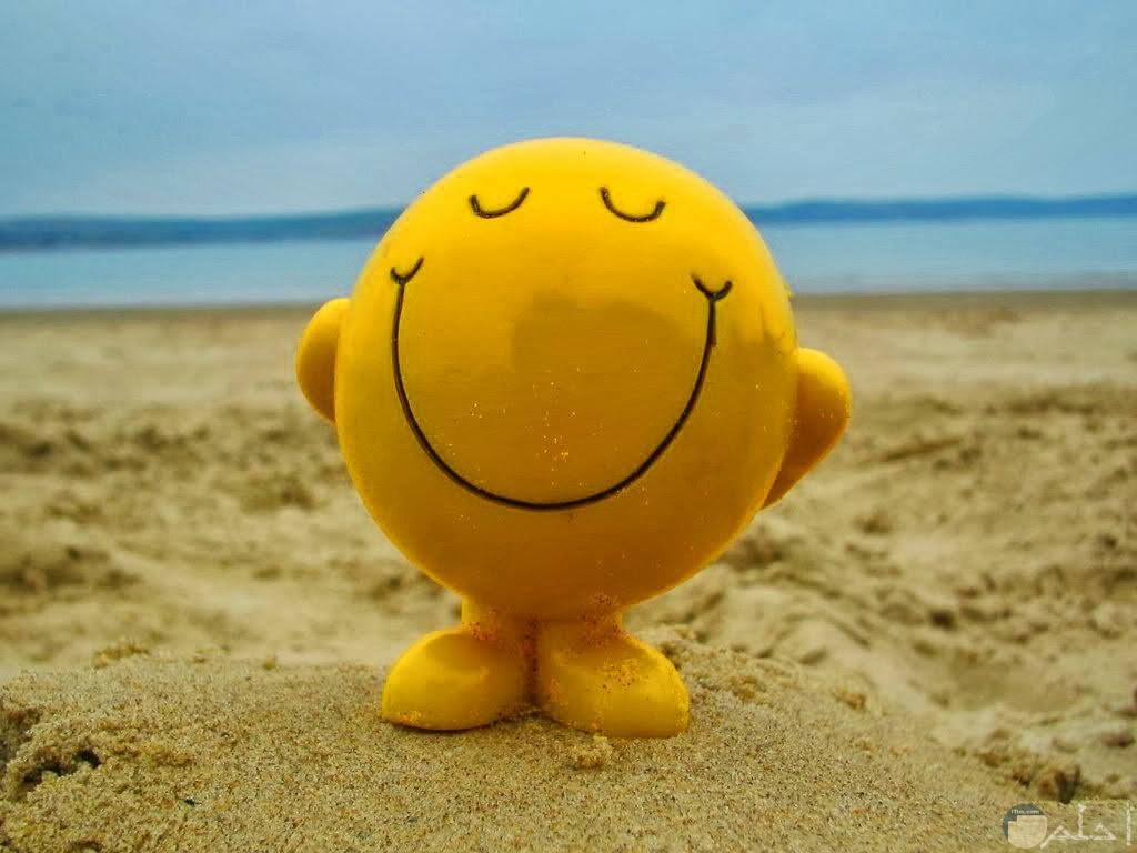 ايموشن ابتسامة مع البحر.