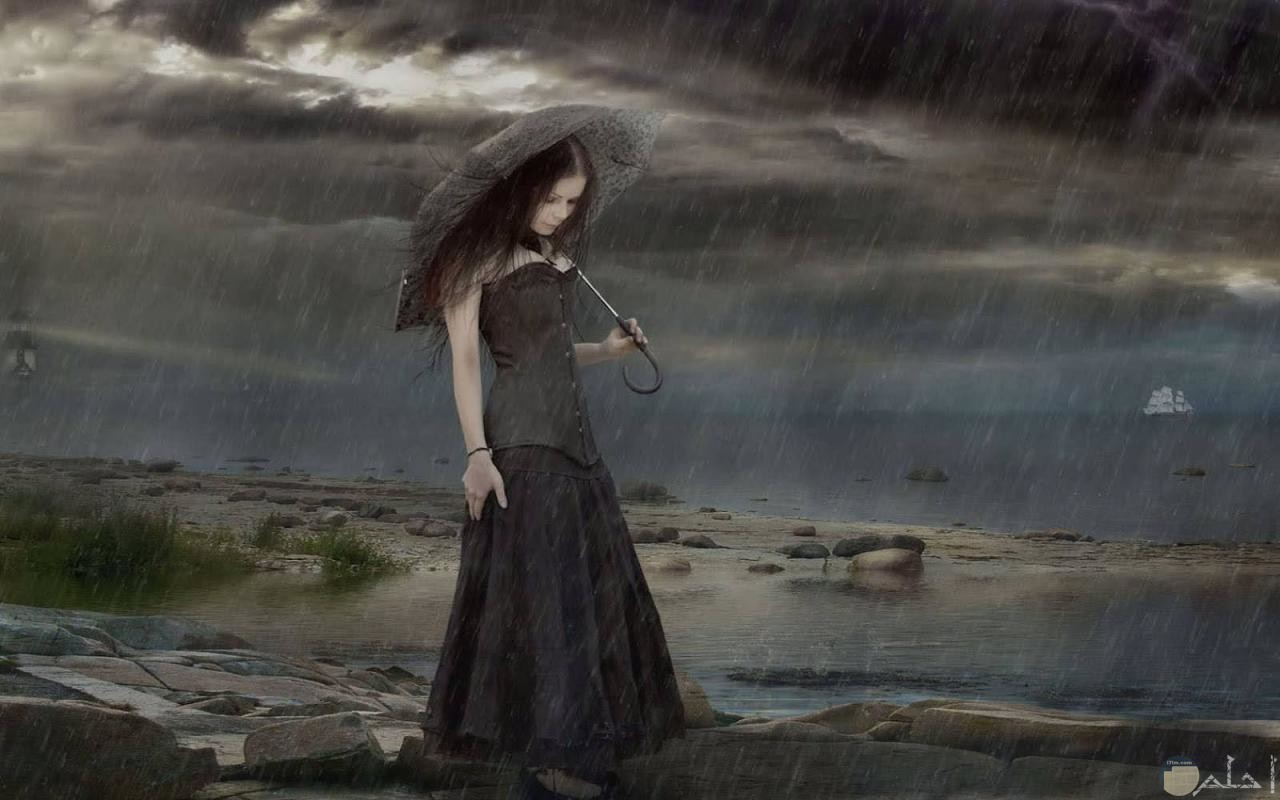 أنمي تحت المطر ...