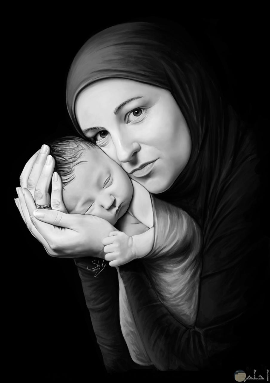 الأم نبع الحنان كله.