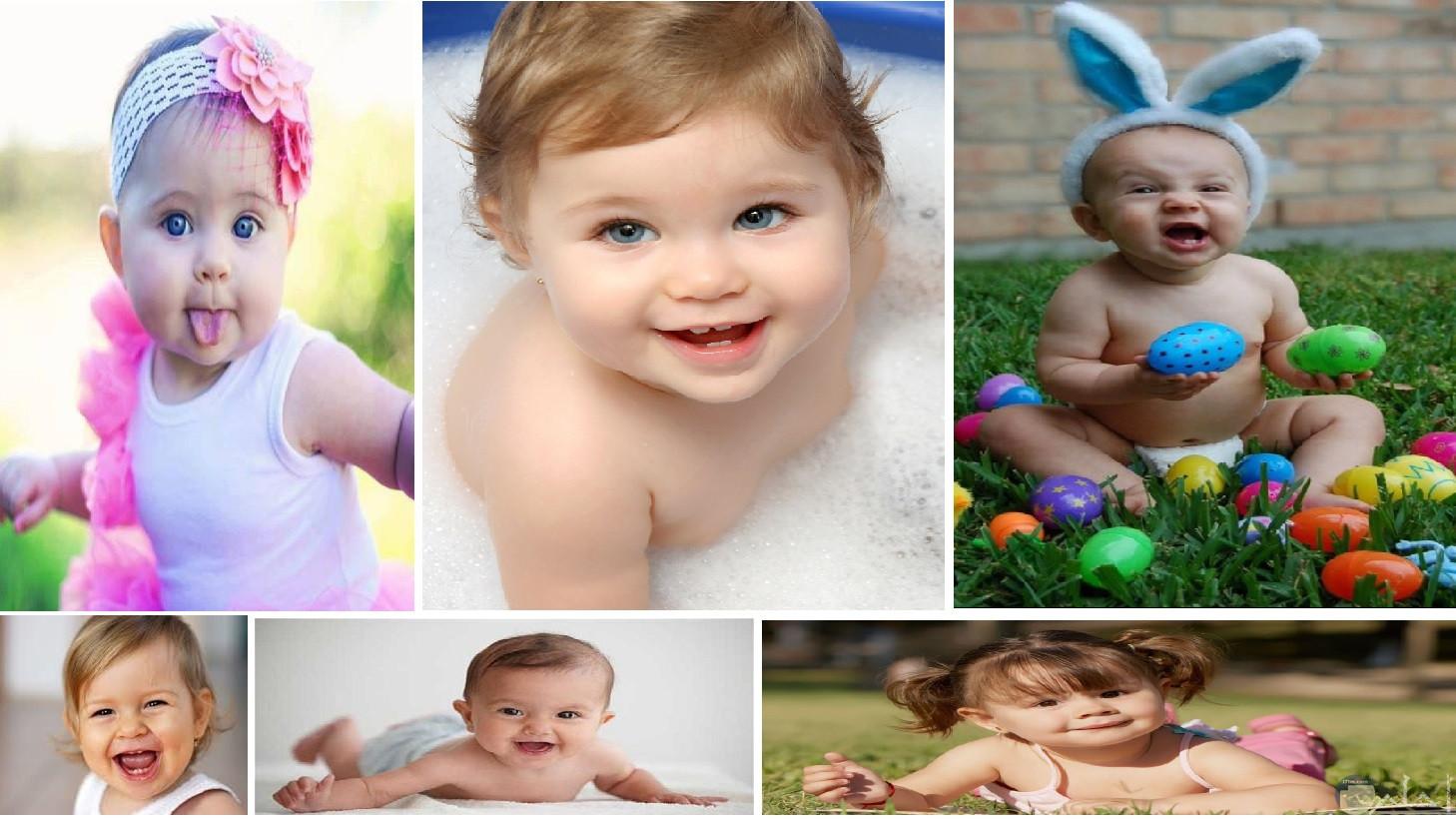 الابتسامة الرائعة للاطفال.