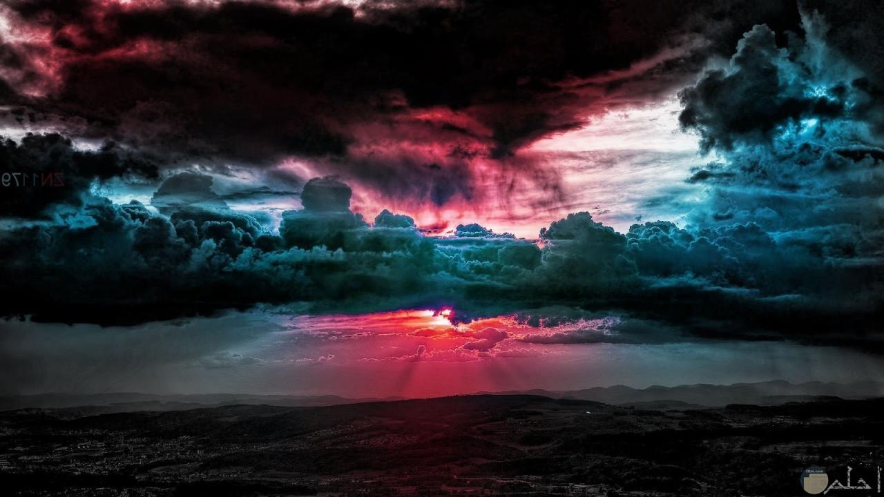 شعاع الشمس و اختراقه الغيوم.