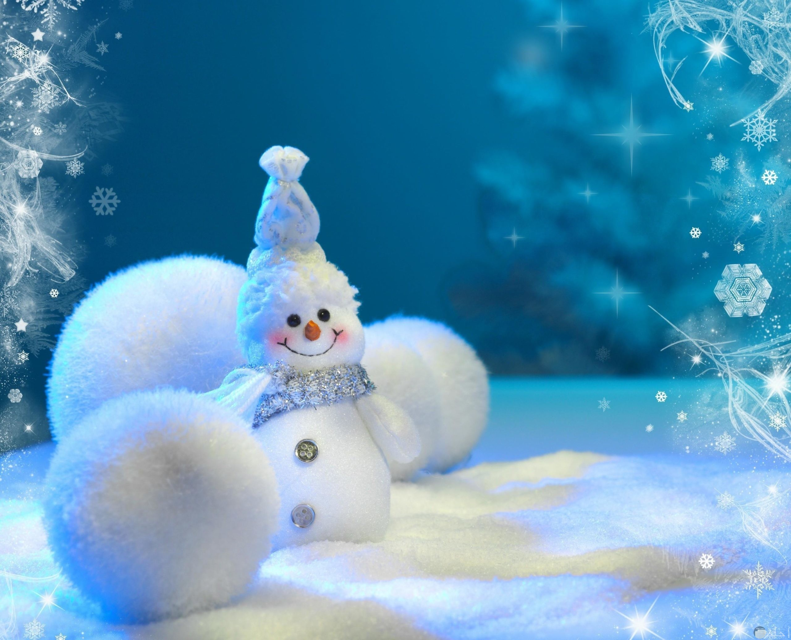 رجل الثلج و كرات الثلج_حينما نبدع بالثلج أشكالاً.