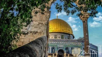 قبة الصخرة بفلسطين.