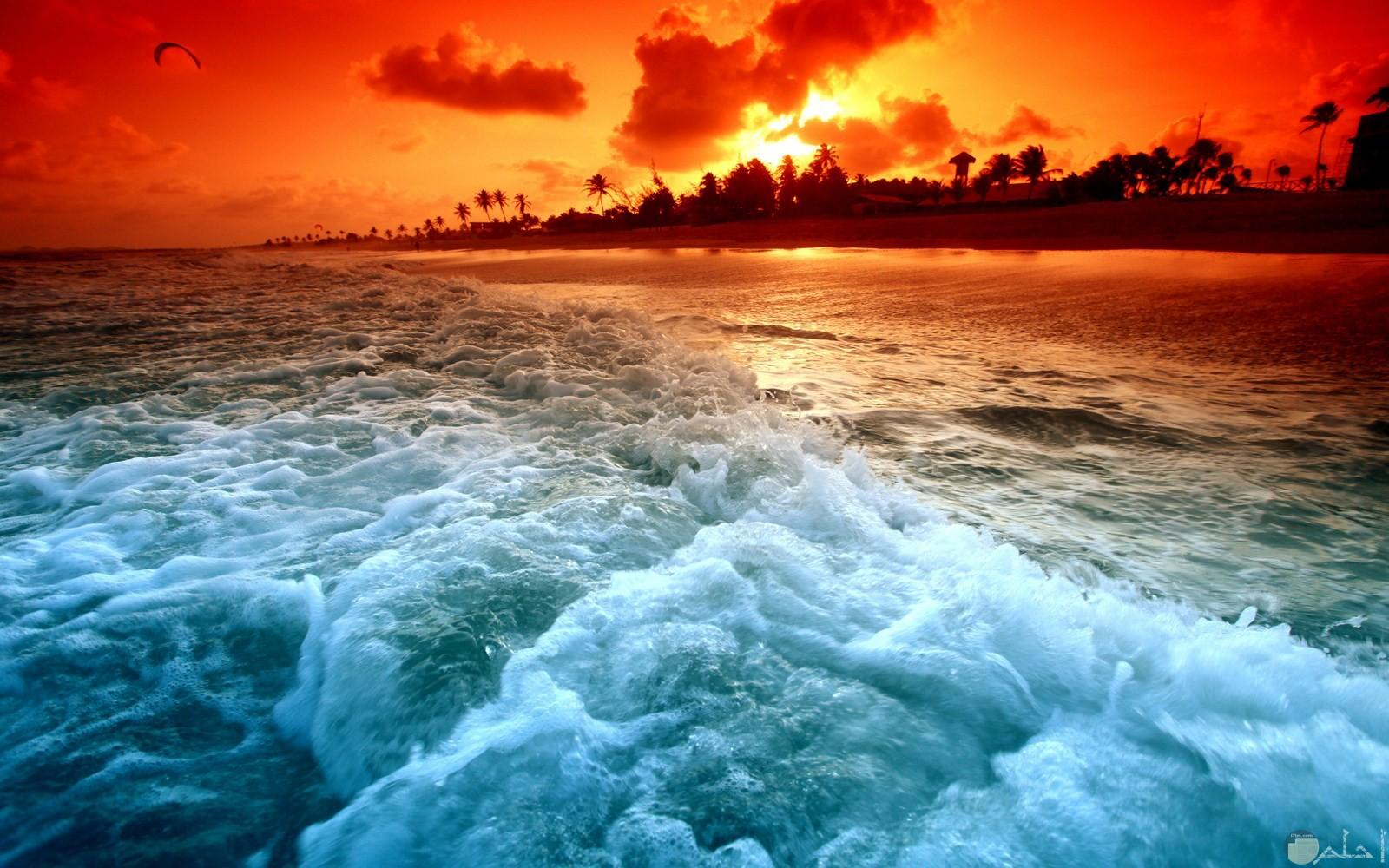 أمواج البحر و الشمس.