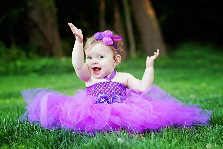 الراحة كلها فى ضحكة طفلة.