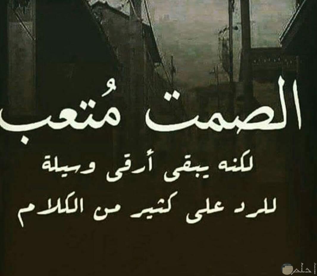صمت الحياة.