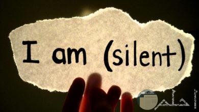 الصمت....