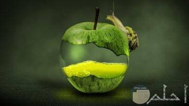 صورة فوتوشوب لتفاحة