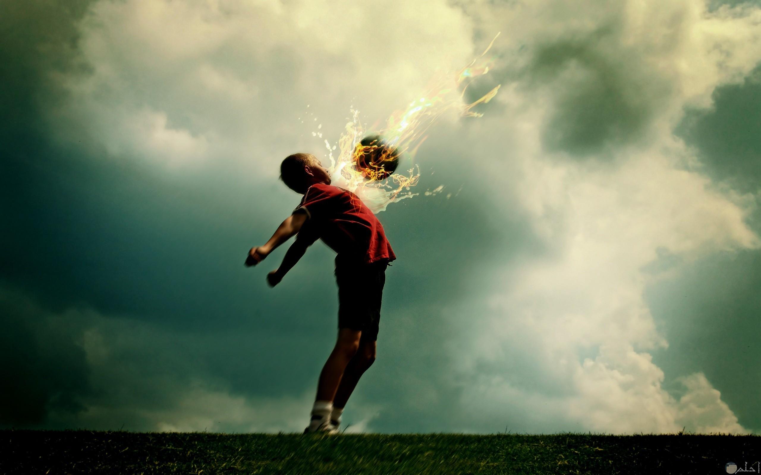 طاقة اللاعب كنار تخرج من جسده _ لعشاق كرة القدم.