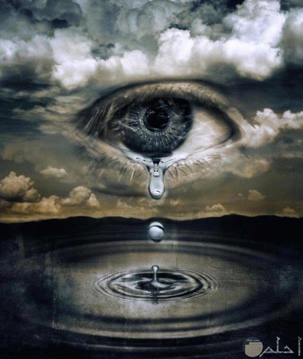 تخيل المطر دموع من عين السماء.