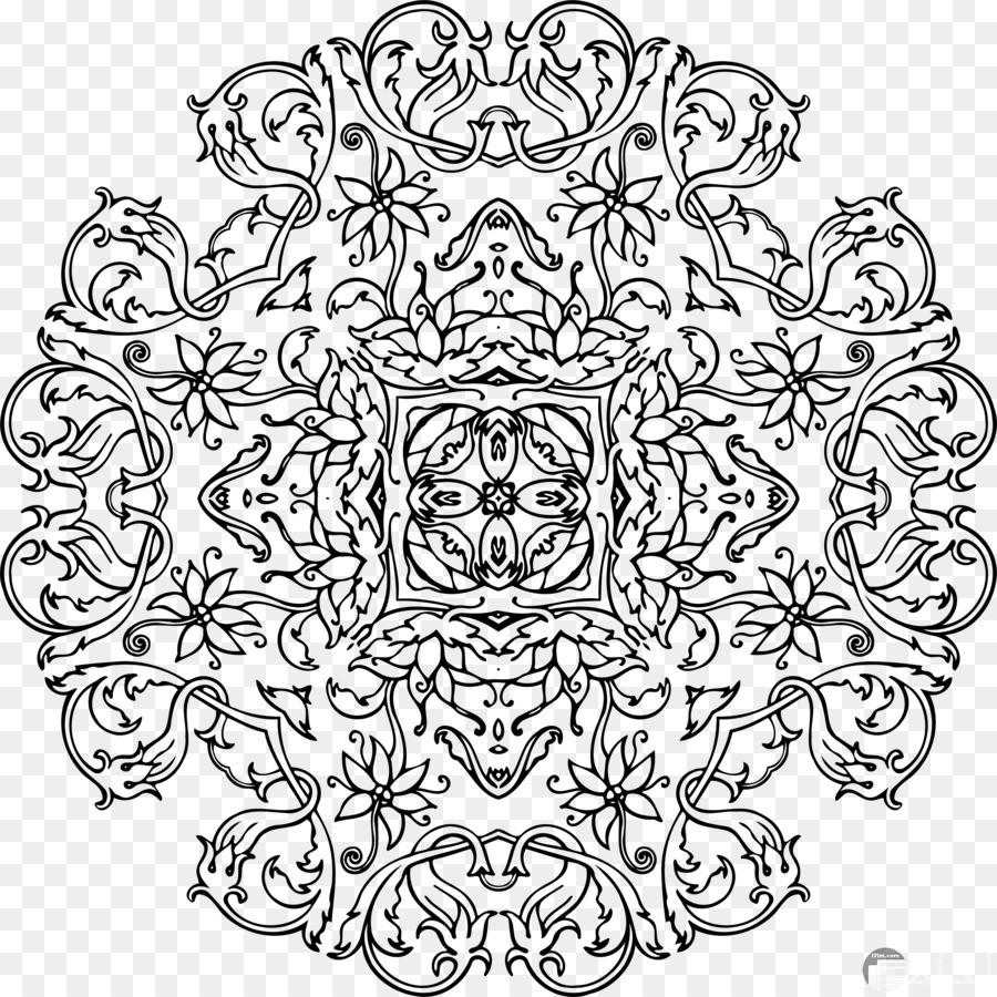 زخارف إسلامية أبيض واسود