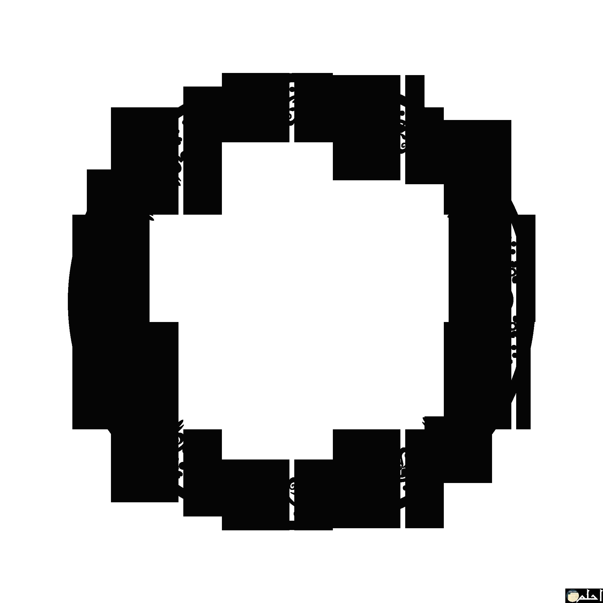 أجمل زخارف إسلامية أبيض واسود تحفة