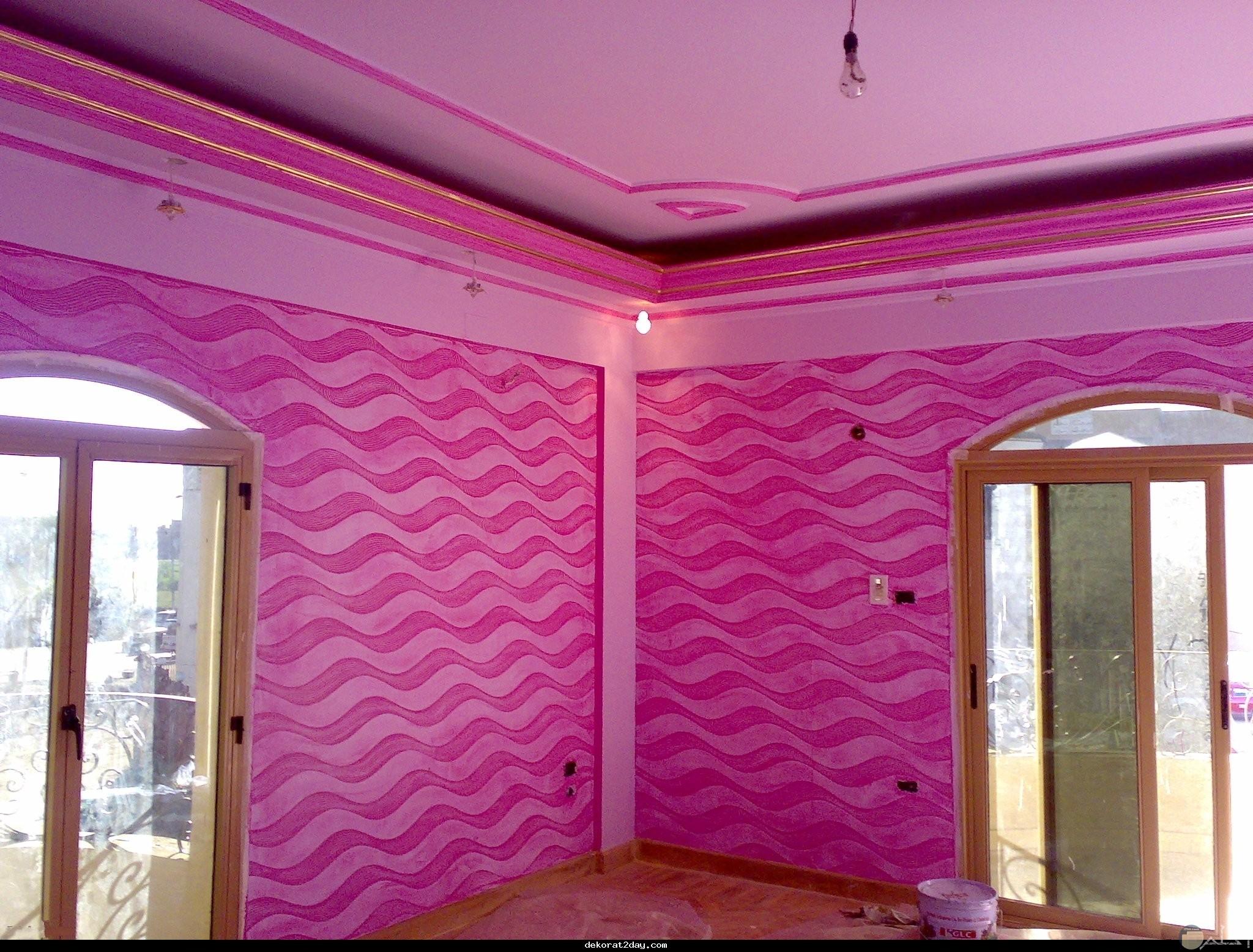 الوان بنك مموجه لحائط غرفة