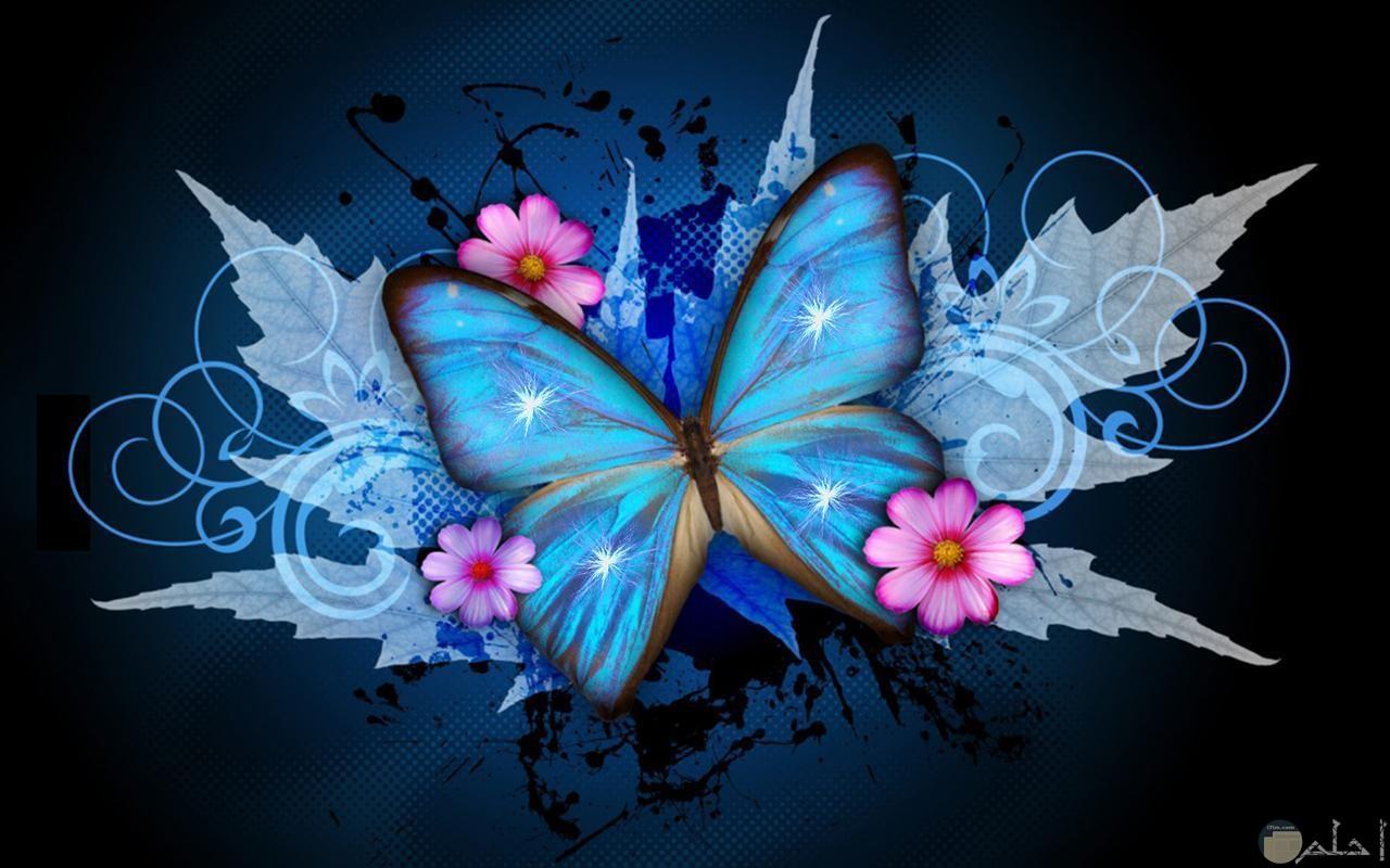 الفراشة المتطايرة الجمال.