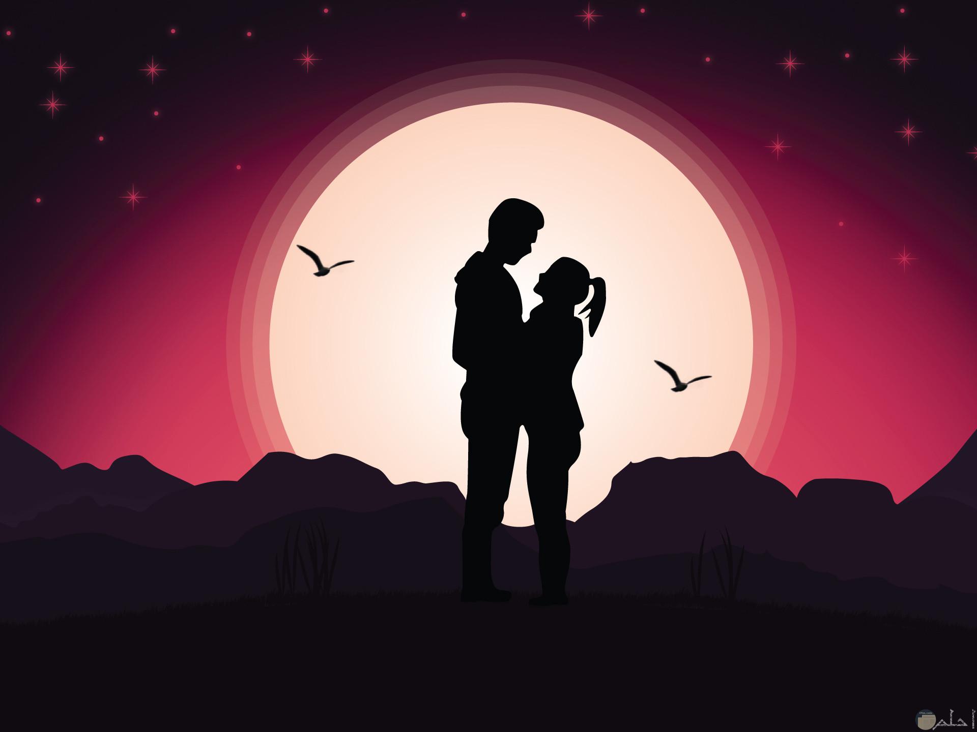 بنت و ولد امام القمر.