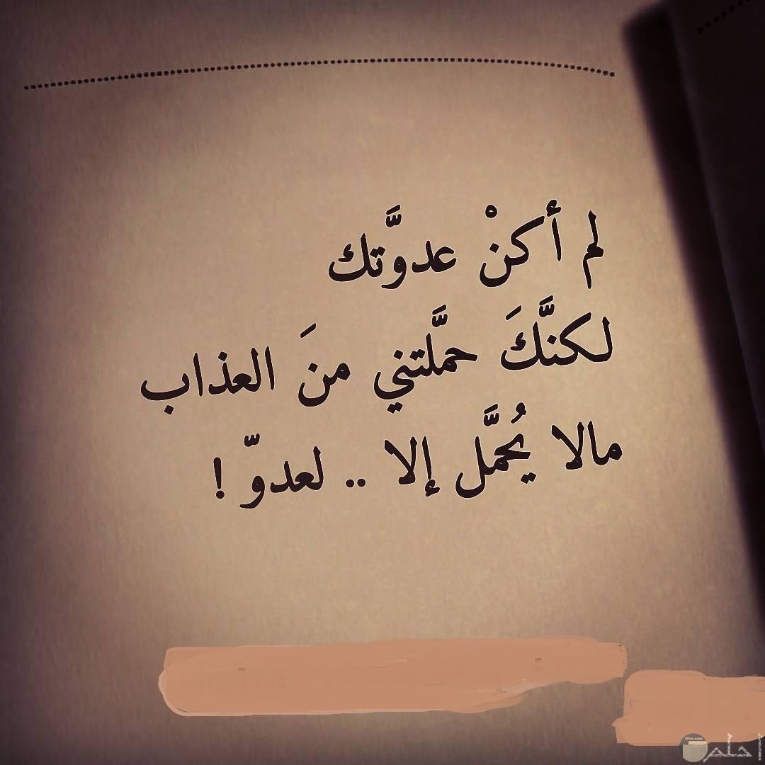 صورة لعتاب حب و حزن الفراق.
