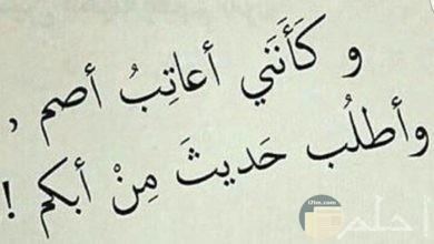 صورة حزن و عتاب غير مجدى النفع.