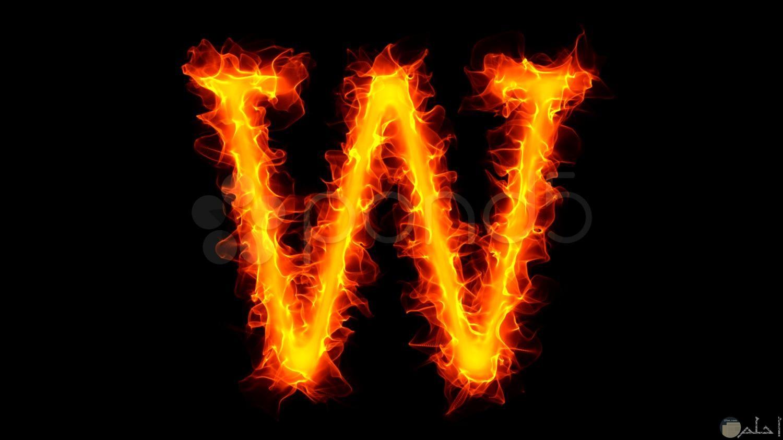 حرف w باللهب الحماسى.